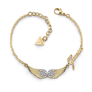 GC J DOUBLE PAVE WINGS BR GL